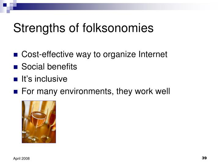 Strengths of folksonomies