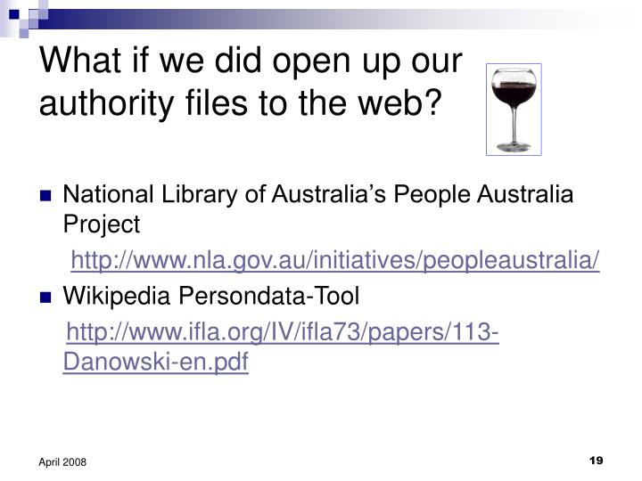 What if we did open up our authority files to the web?
