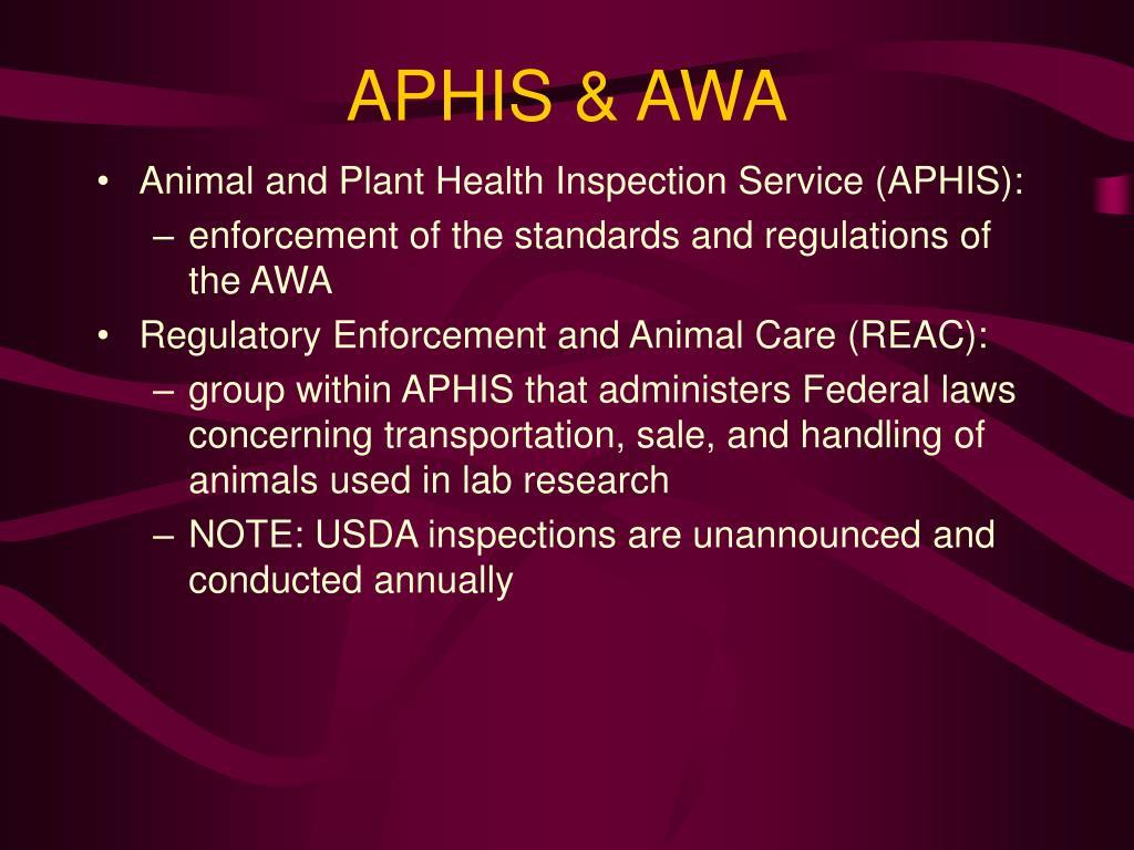 APHIS & AWA