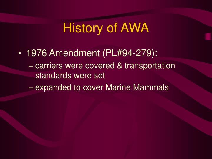 History of awa3