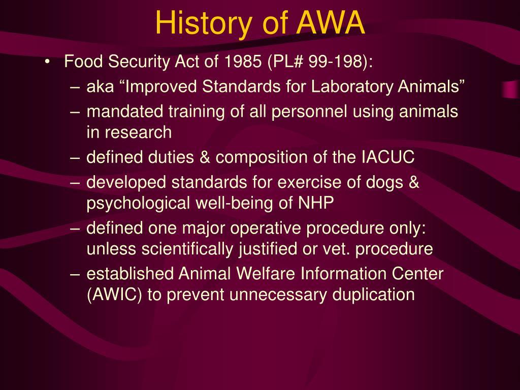 History of AWA