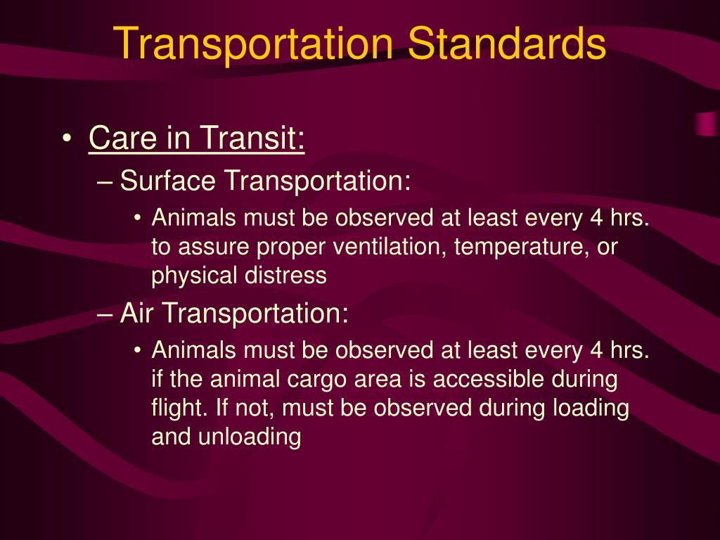 Transportation Standards