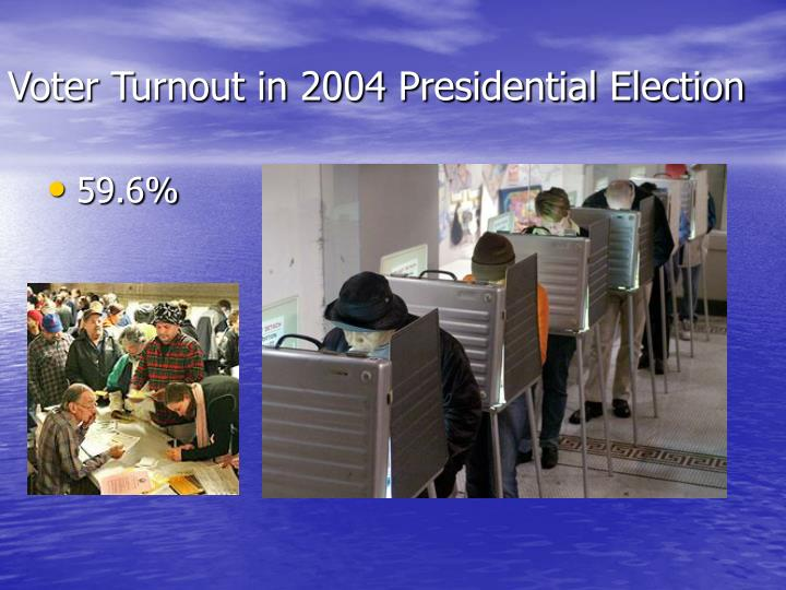 voter turnout in 2004 presidential election n.