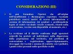 considerazioni iii