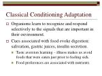 classical conditioning adaptation