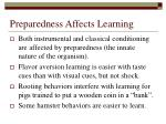 preparedness affects learning
