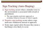 sign tracking auto shaping