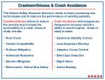 crashworthiness crash avoidance