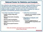 national center for statistics and analysis