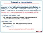 rulemaking harmonization
