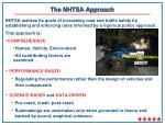 the nhtsa approach