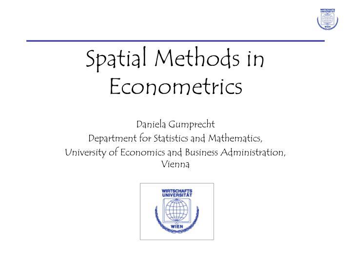spatial methods in econometrics n.