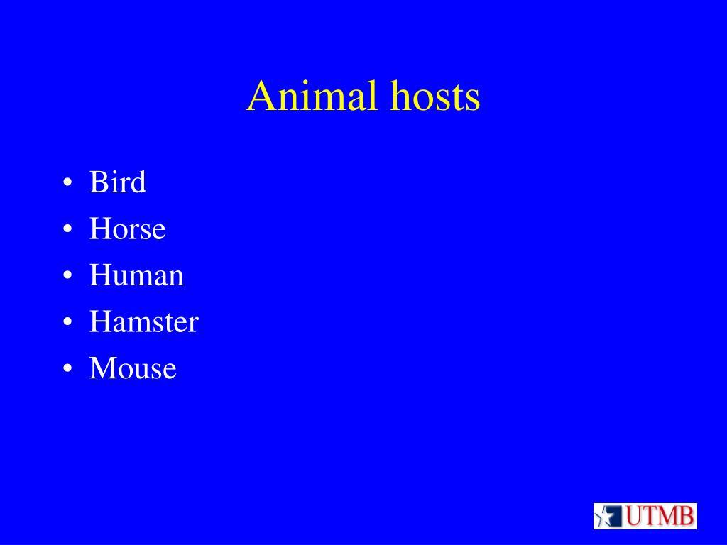 Animal hosts