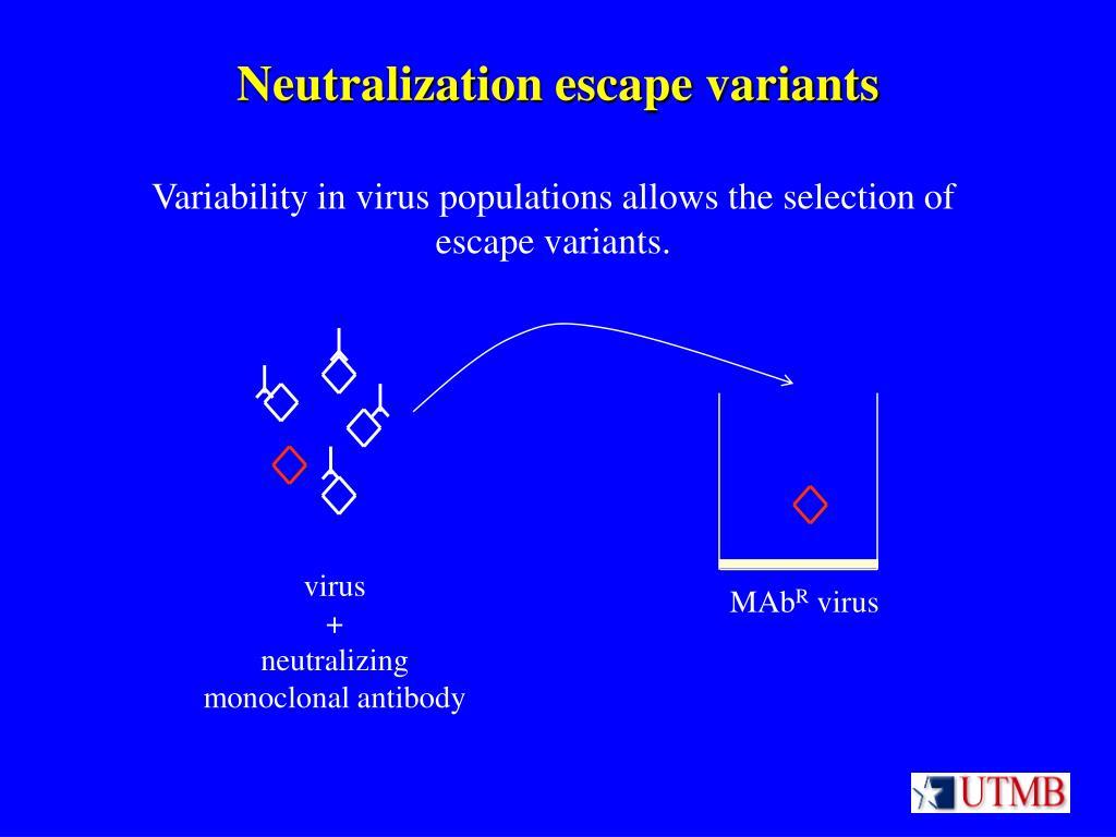Neutralization escape variants