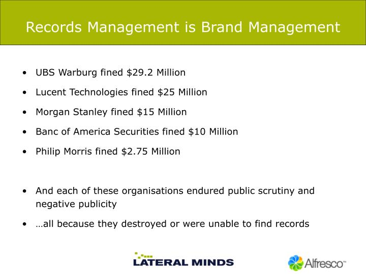 Records Management is Brand Management