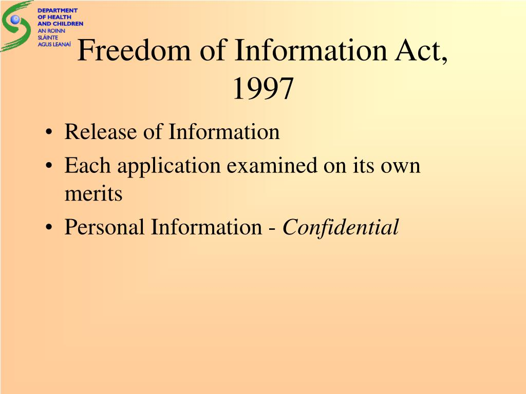 Freedom of Information Act, 1997