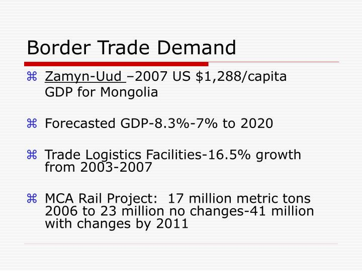 Border Trade Demand