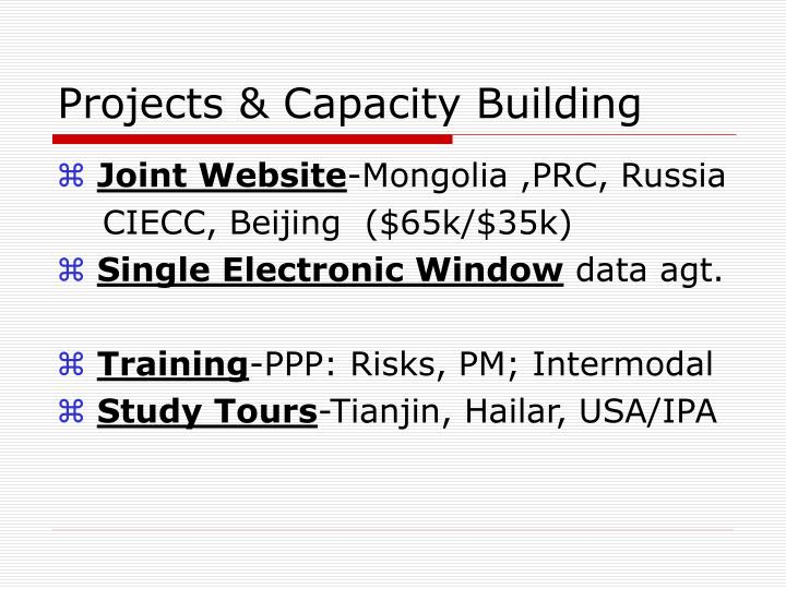 Projects & Capacity Building