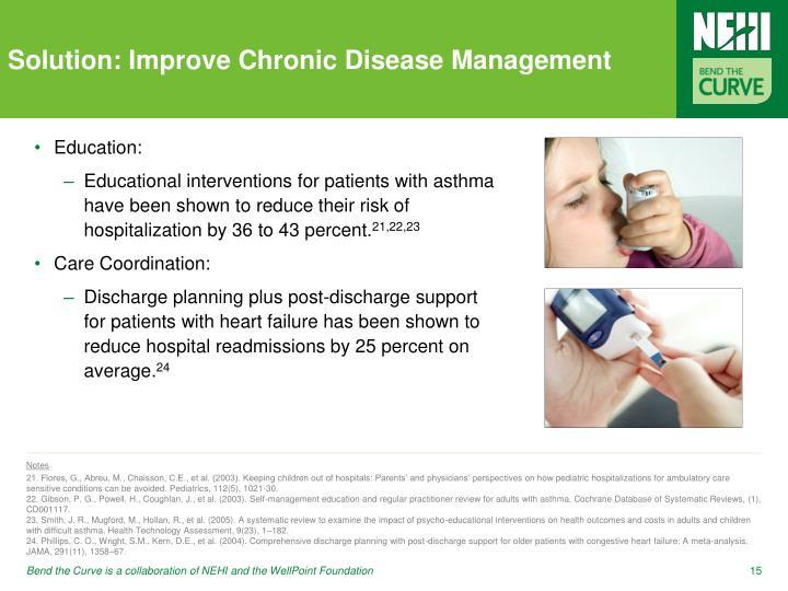 Solution: Improve Chronic Disease Management