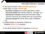 information directory metadata14