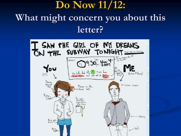 Do Now 11/12:
