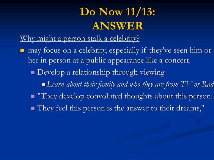Do Now 11/13: