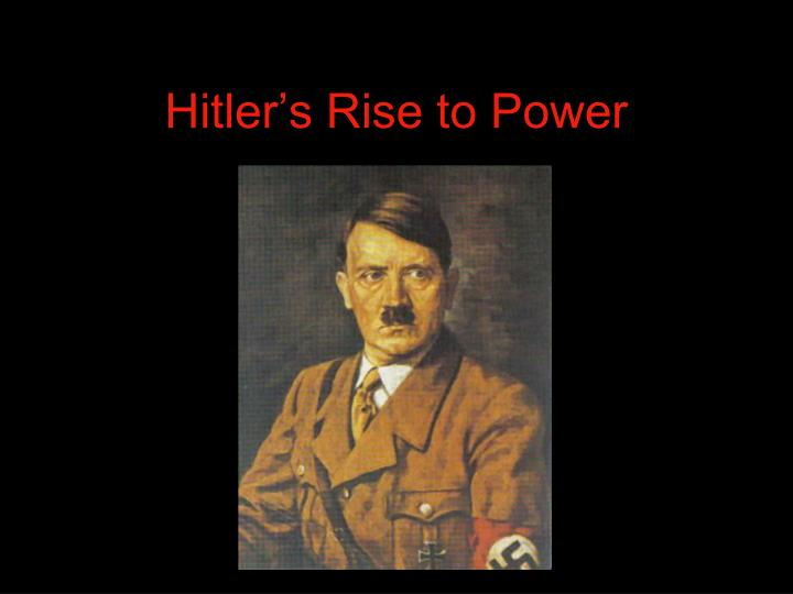 the factors that lead hitler and the nazis to power