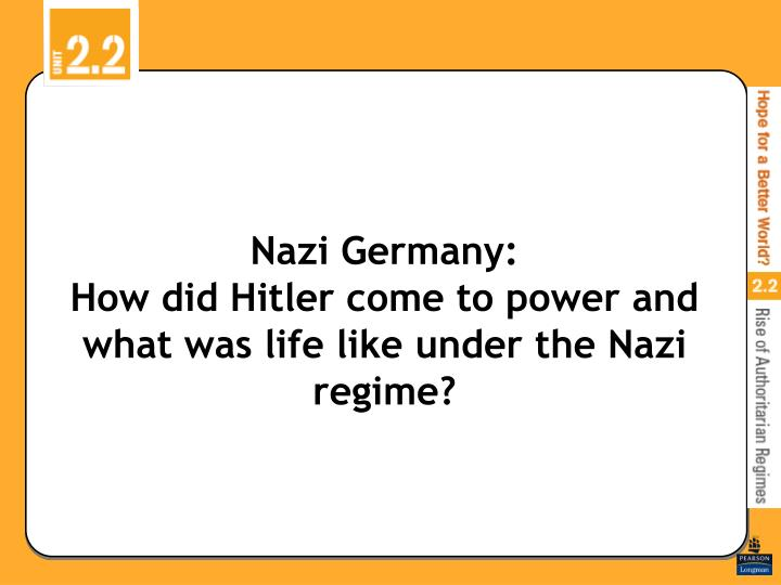 how did the nazi regime use Start studying hitler's rise to power/nazi germany review learn vocabulary, terms, and more with flashcards, games, and other study tools.
