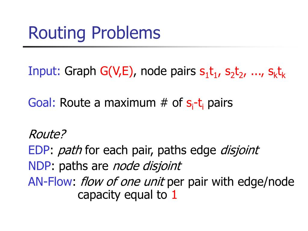 PPT - Multicommodity flow, well-linked terminals and routing