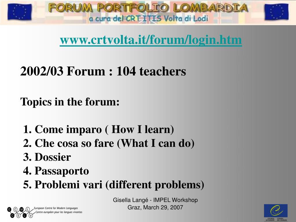 www.crtvolta.it/forum/login.htm