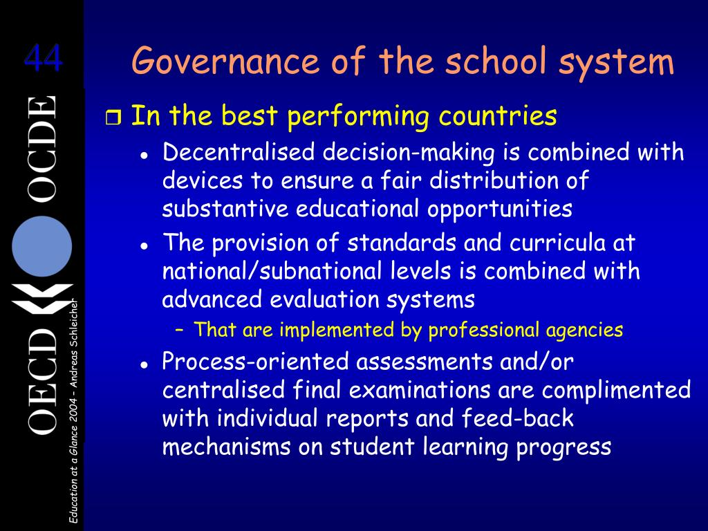 Governance of the school system