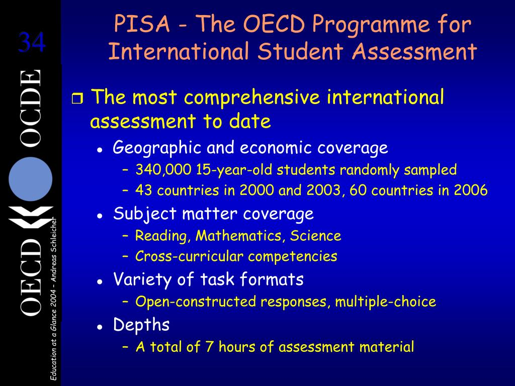 PISA - The OECD Programme for International Student Assessment
