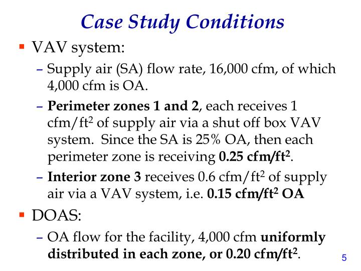 Case Study Conditions