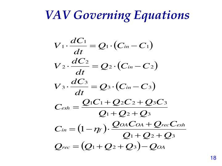 VAV Governing Equations