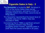 cigarette sales in italy 2
