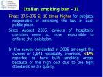 italian smoking ban ii
