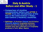 italy austria before and after study 1