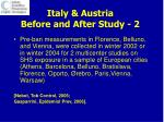 italy austria before and after study 2