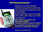 pm measurements