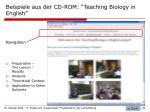 beispiele aus der cd rom teaching biology in english
