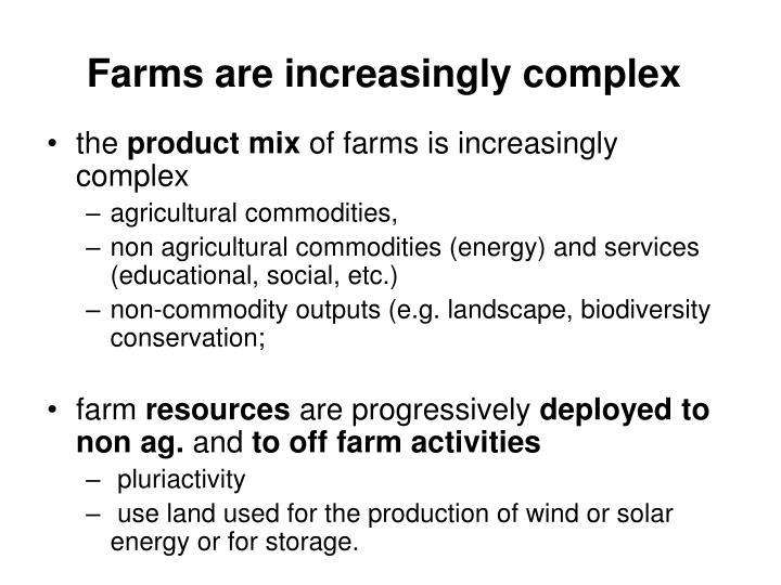 Farms are increasingly complex