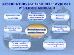 restrukturyzacja modelu wzrostu w siedmiu krokach