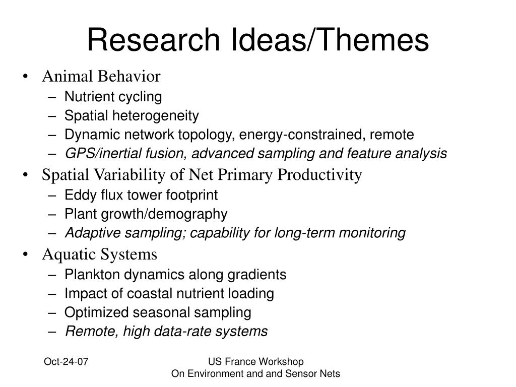 Research Ideas/Themes