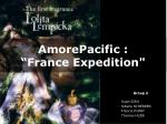 amorepacific france expedition