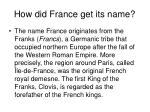 how did france get its name
