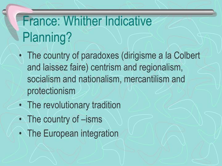 France whither indicative planning