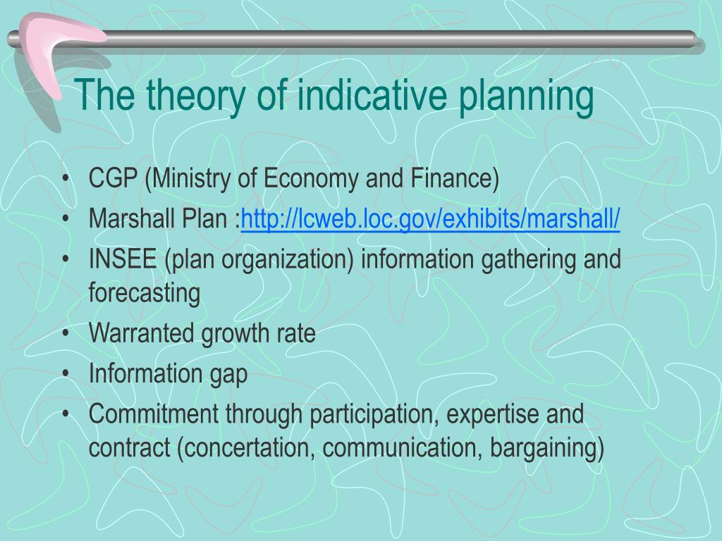 The theory of indicative planning