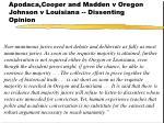 apodaca cooper and madden v oregon johnson v louisiana dissenting opinion