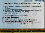 what are info on inventors useful for