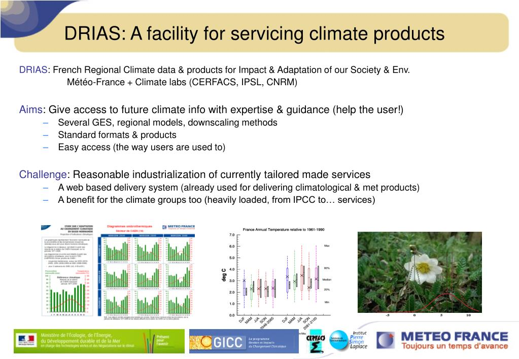 DRIAS: A facility for servicing climate products